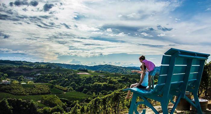 Turismo: mappe panoramiche strade del vino Astigiano Foto collaboratrice Manuela Macario