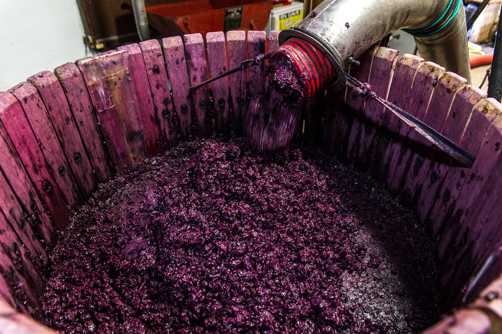 Le pressurage ou pressage est une opération mécanique consistant à presser le raisin afin d'en extraire le jus.